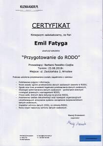 Certyfikat RODO IOD